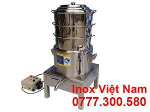 Nồi hấp bánh bao điện công nghiệp 3 tầng size D400, NHBB 400-3T