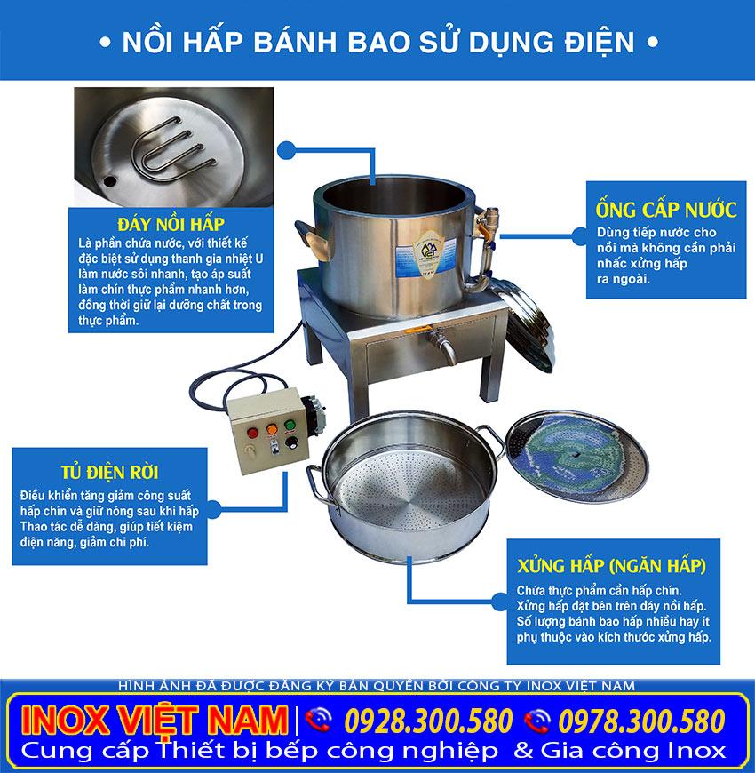 Nồi hấp điện công nghiệp, nồi hấp cơm tấm bằng điện, nồi hấp bánh bao bằng điện công nghiệp chính hãng sản xuất tại Inõ Việt Nam.