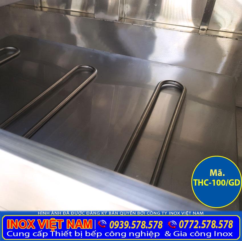 Thanh tạo nhiệt của tủ nấu cơm bằng điện và gas   Tủ hấp cơm bằng điện và gas.