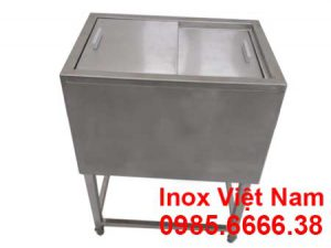 Thùng đá inox có khung chân sản xuất tại Inox Việt Nam.