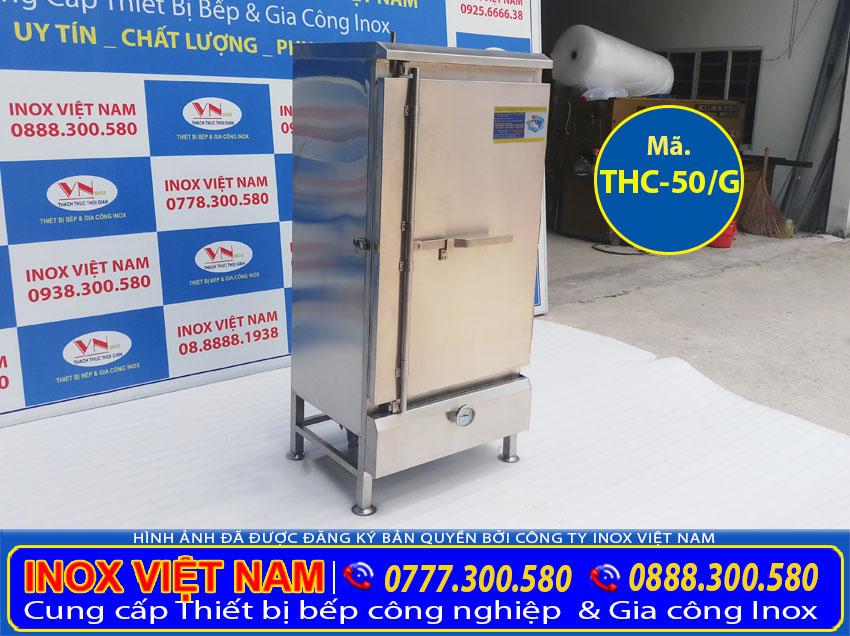 Tủ hấp cơm 50kg, Tủ hấp cơm 50kg bằng gas, Tủ cơm công nghiệp,