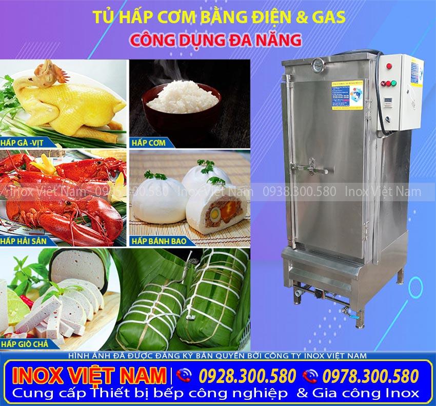 Tủ hấp cơm công nghiệp, Tủ nấu cơm 50kg, Tủ nấu cơm 30kg, Tủ cơm Inox, Tủ nấu cơm bằng gas.