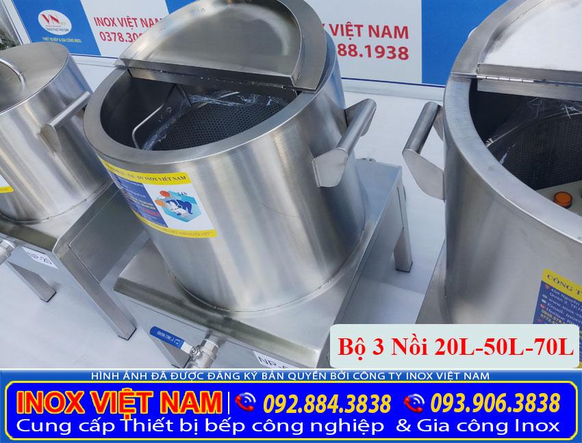 Bộ Nồi hầm xương bằng điện  Nồi nấu phở điện  Nồi điện nấu hũ tiếu Inox 304 Cao cấp- Sáng bóng.