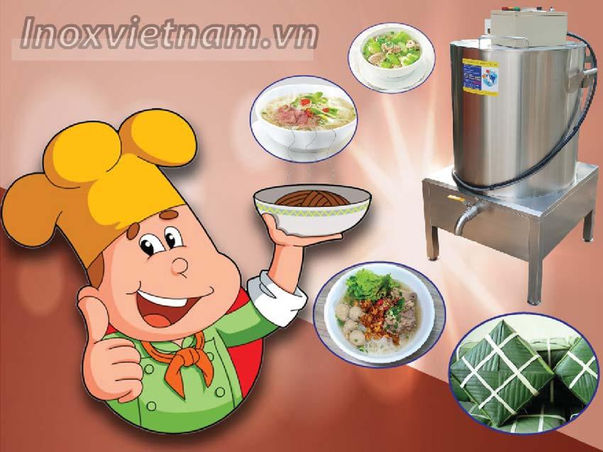 [ Báo giá nồi nấu hủ tiếu bằng điện | nồi nấu nước lèo bún bò | nồi nấu cháo bằng điện |.