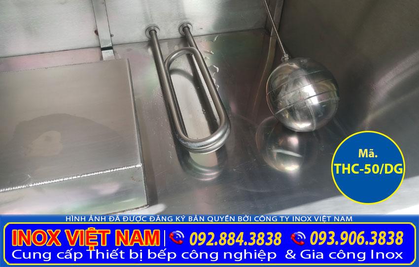 Tủ cơm công nghiệp, Tủ nấu cơm bằng gas, Tủ nấu cơm bằng điện và gas, Tủ hấp chín cơm, Tủ cơm inox chất lượng cao.  https://bepinoxvietnam.vn/wp-content/uploads/2020/07/dien-tro-cua-tu-com-cong-nghiep-50kg-dien-gas.jpg