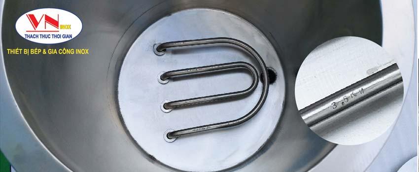 Thanh nhiệt Nồi cháo bằng điện-Nồi điện nấu cháo dinh dưỡng Cao cấp- Sáng bóng.
