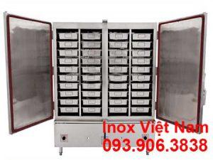 Tủ hấp cơm bằng điện và gas, báo giá tủ hấp cơm, thi công tủ hấp cơm 200kg