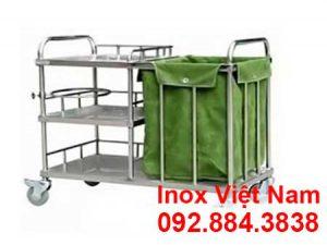 Xe đẩy hàng inox| Xe đẩy y tế| Xe đẩy thức ăn inox cao cấp và sáng bóng.