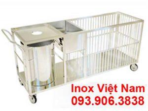 Xe đẩy hàng inox  Xe đẩy inox  Xe đẩy thức ăn inox cao cấp và sáng bóng.