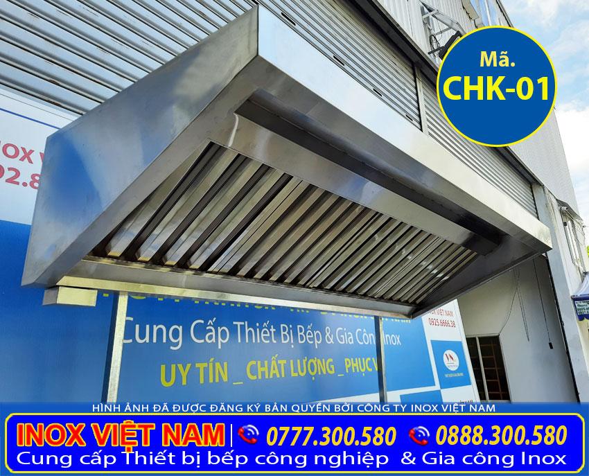 Thi công hệ thống hút khói inox công nghiệp, chụp hút khói gia đình, báo giá chụp hút khói inox.