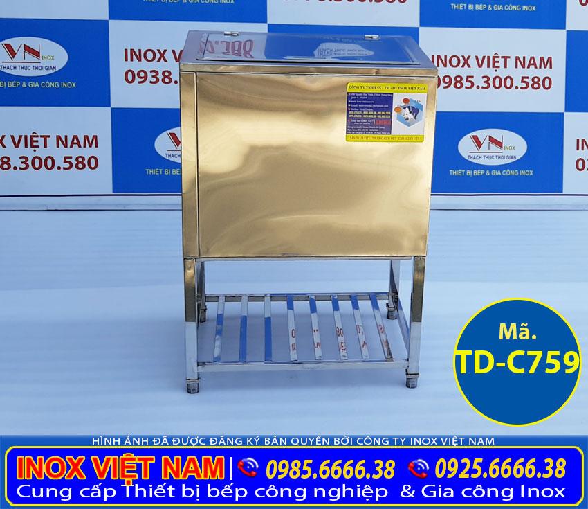 Thùng đựng đá inox 304, thùng đá inox , thùng chứa đá inox chất lượng cao sản xuất Bếp Inox Việt Nam.