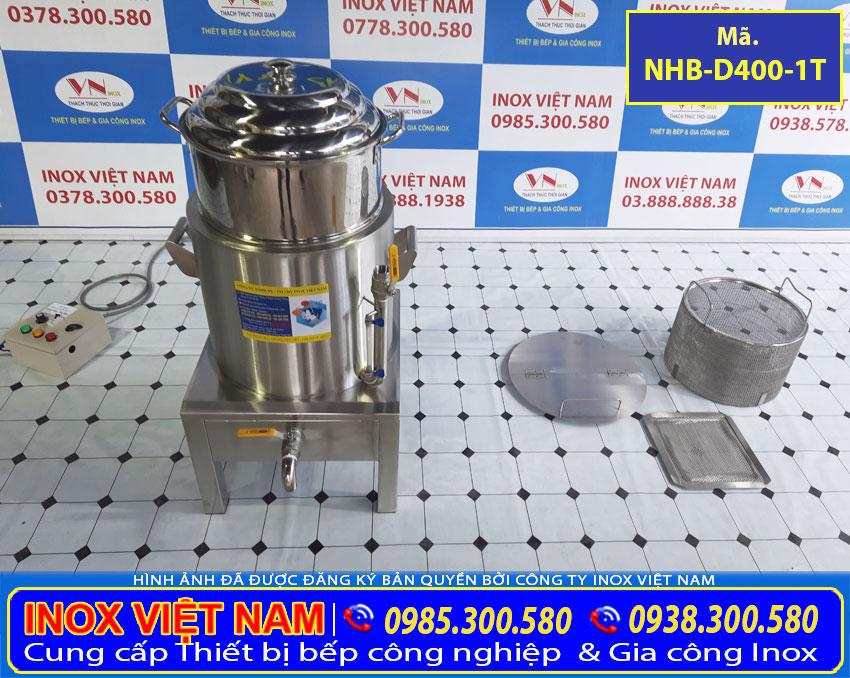 Nồi hấp bắp bằng điện, nồi luộc măng bằng điện, nồi điện nấu ngô inox cao cấp sản xuất Bếp Inox Việt Nam.