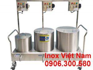Bộ 3 nồi điện nấu phở 30L - 80L - 100L sản xuất inox cao cấp, có độ bền cao, chịu nhiệt tốt sản xuất tại Bếp Inox Việt Nam.