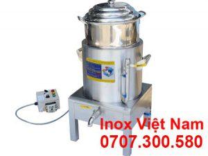 Nồi nấu bắp bằng điện, nồi luộc măng bằng điện, nồi hấp hả cảo bằng điện inox cao cấp sản xuất Inox Việt Cường Thịnh