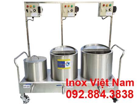 Bộ nồi nấu phở bằng điện 20L - 50L - 70L sản xuất inox cao cấp, có độ bền cao, chịu nhiệt tốt sản xuất tại Bếp Inox Việt Nam.