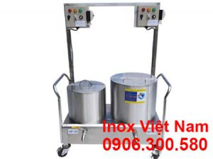Bộ nồi điện nấu phở, nồi hầm xương bằng điện, nồi điện trụng bánh inox cao cấp sản xuất Bếp Inox Việt Nam.