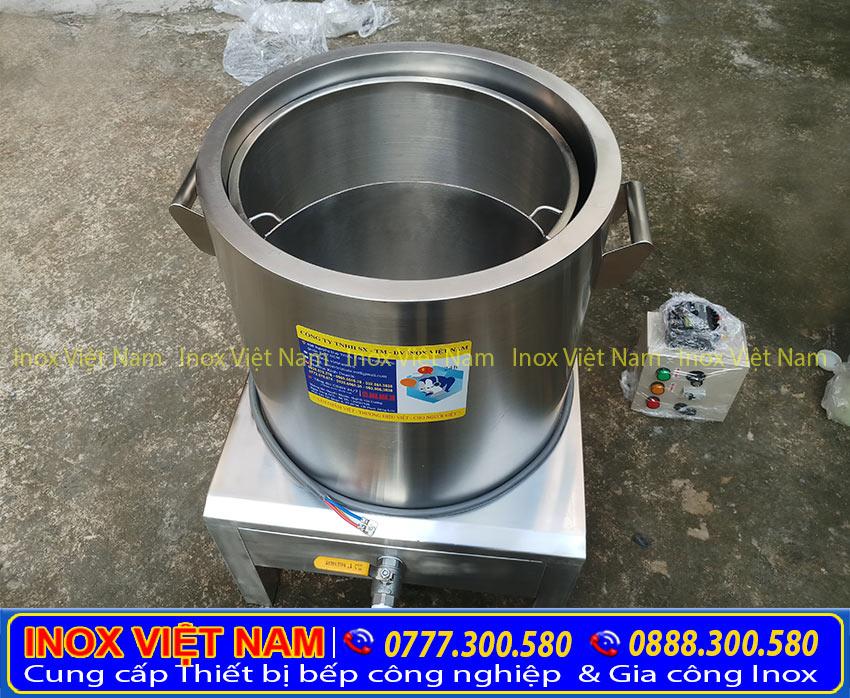 Nồi nấu hủ tiếu bằng điện, nồi hầm xương bằng điện, nồi điện nấu nước lèo inox cao cấp sản xuất Bếp Inox Việt Nam.
