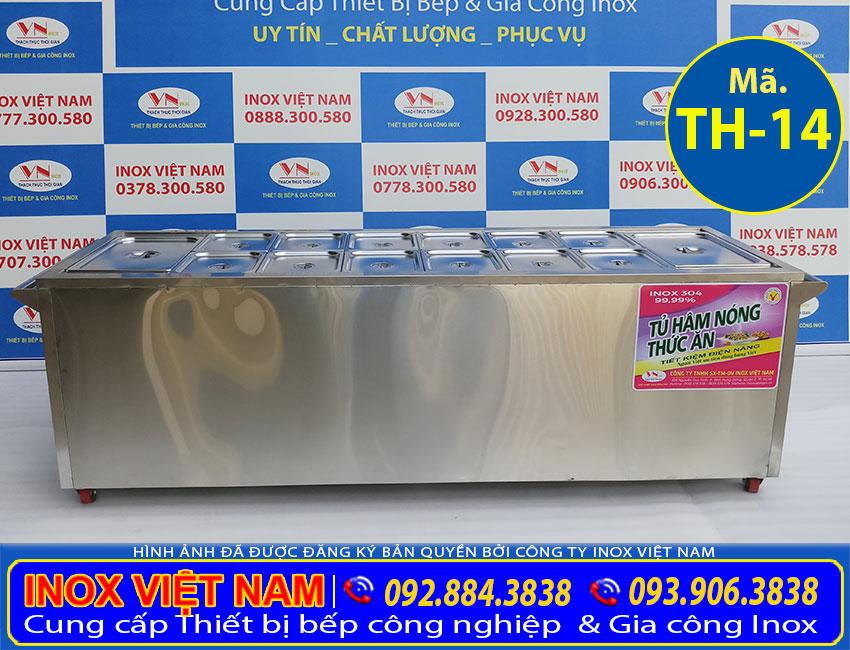 Xe hâm nóng thức ăn, quầy giữ nóng thức ăn, tủ hâm nóng thức ăn inox 304 cao cấp, đa năng và tiện dụng sản xuất Bếp Inox Việt Nam.