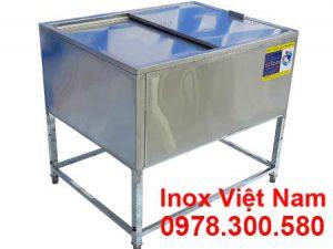 Top thùng đá inox có khung chân cao cấp sản xuất Inox Việt Cường Thịnh.