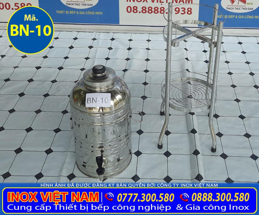 Bình đựng trà đá inox, bình đựng đá inox sản xuất chất liệu inox 304 cao cấp.