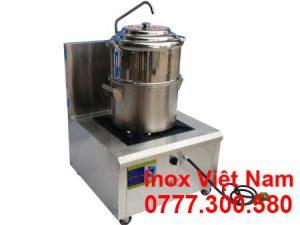 Bộ bếp và nồi hấp inox công nghiệp sử dụng ga