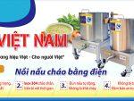 Nồi nấu cháo bằng điện sản xuất Bếp Inox Việt Nam.