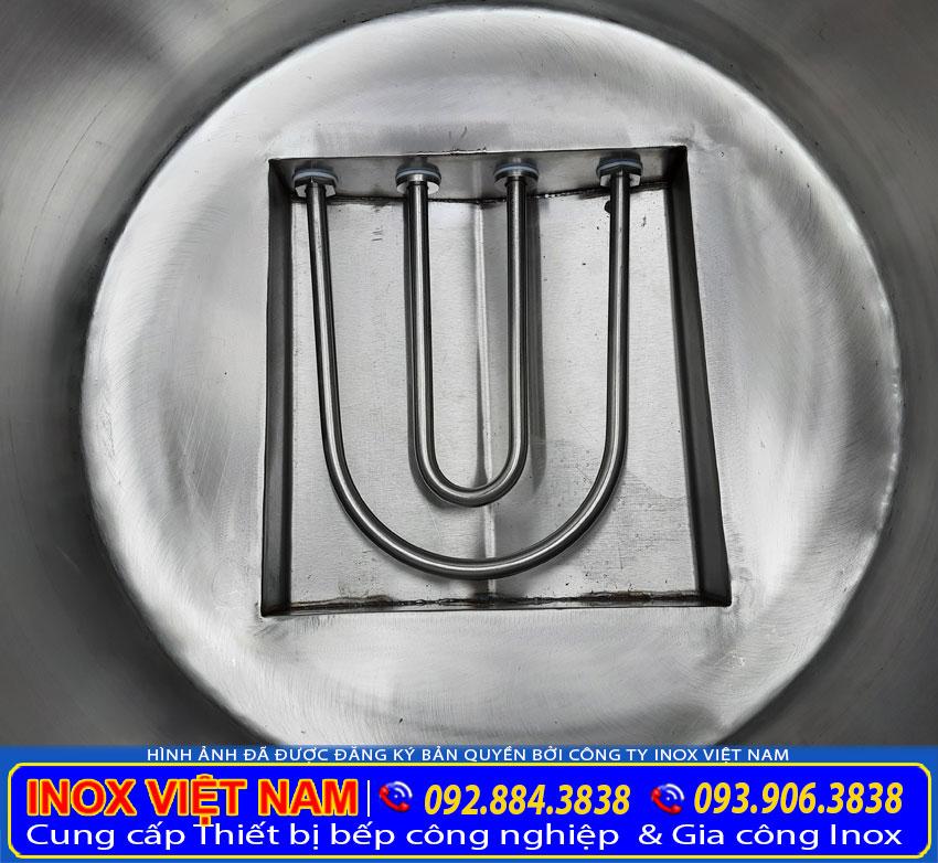 Thanh tải nhiệt nồi phở thiết kế chữ U tải nhiệt nhanh.