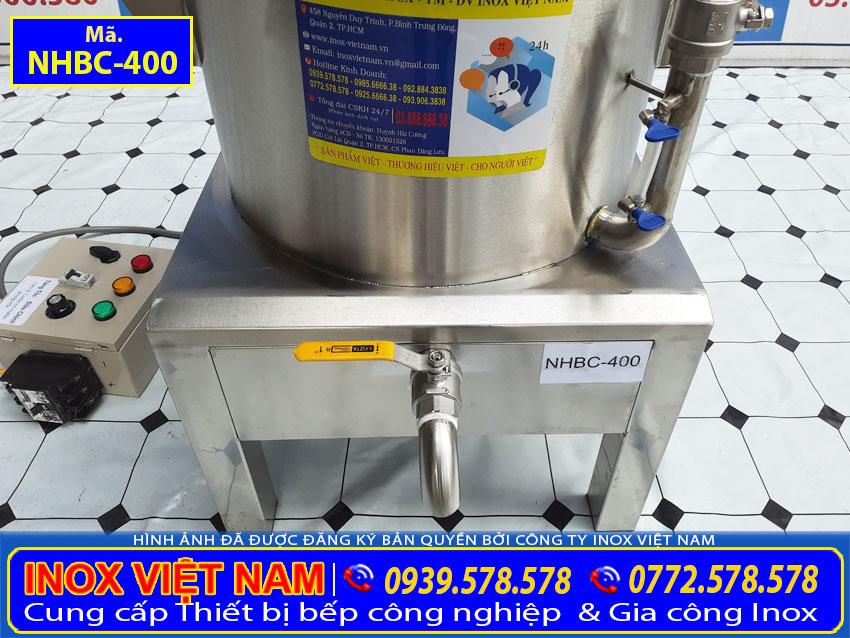 Van cấp nước giúp cho nước từ ngoài vào trong nồi hấp dễ dàng.