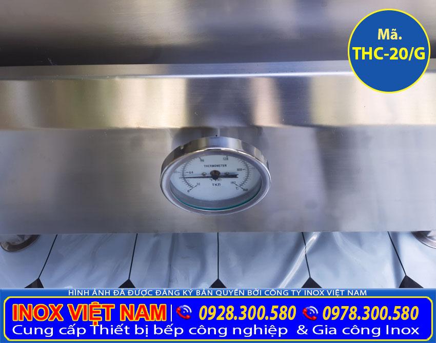 Đồng hồ đo nhiệt độ trong tủ nấu cơm, tủ hấp cơm công nghiệp.