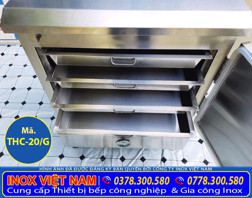 Khay đựng cơm trong tủ nấu cơm, tủ hấp cơm bằng gas 20 kg.