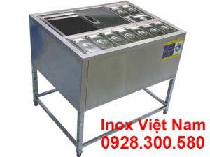 Địa chỉ bán thùng đá inox có chân kèm khay topping tại Việt Nam.