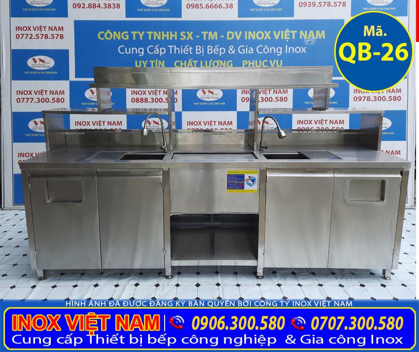 Mẫu quầy pha chế cafe inox | quầy bar trà sữa inox | thiết bị quầy bar sản xuất Inox Việt Nam.