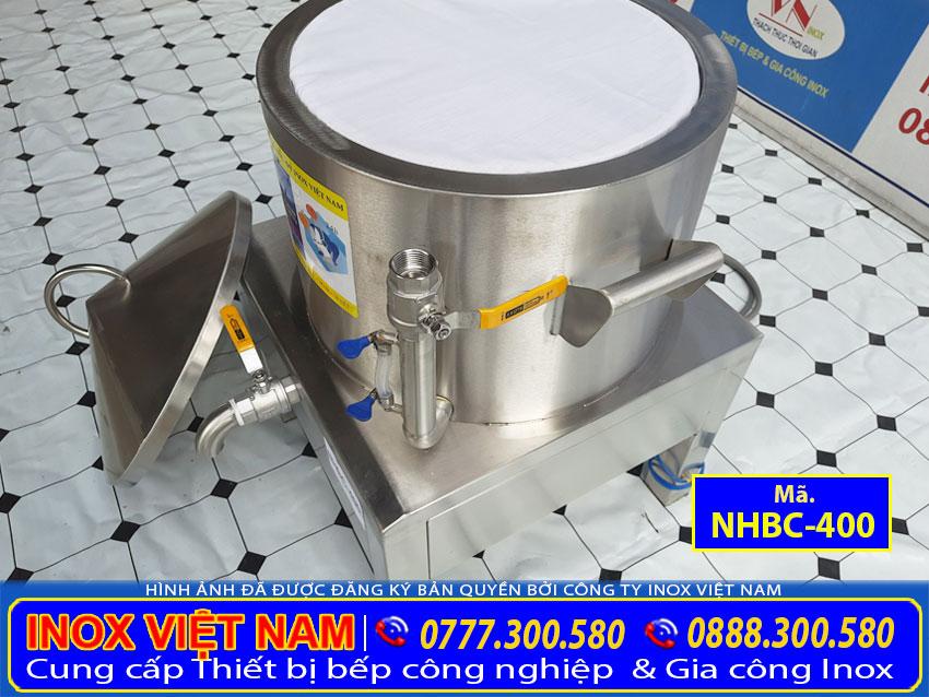 Nồi tráng báng cuốn băng điện thiết kế foam cách nhiệt dày 30 mm.