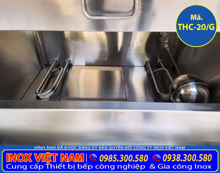 Phao đo mực nước trong tủ nấu cơm công nghiệp, Tủ hấp cơm công nghiệp 20 bằng gas.