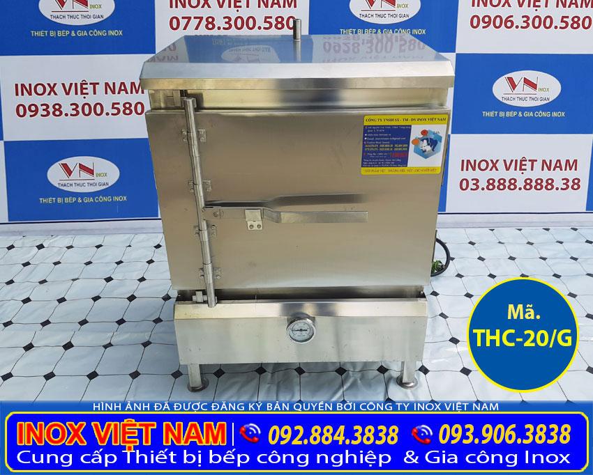 Mẫu tủ nấu cơm công nghiệp 20 kg | Tủ hấp cơm công nghiệp 20 kg bằng gas sản xuất Bếp Inox Việt Nam.