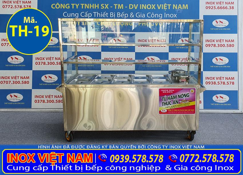 Mẫu quầy giữ nóng thức ăn, tủ giữ nóng thức ăn sản xuất Inox Việt Nam.
