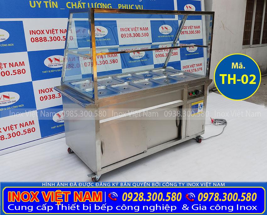 Hình ảnh thực tế về tủ hâm nóng thức ăn, tủ giữ nóng thức ăn 10 khay.