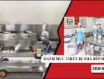 Danh sách thiết bị nhà bếp ở trường mầm non