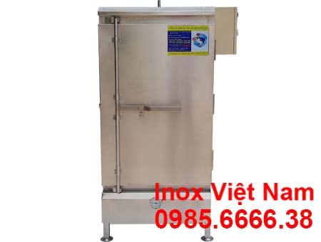 Mẫu tủ hấp bánh bao công nghiệp, tủ hấp bánh bao 10 khay sử dụng điện & gas.