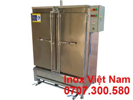 Mẫu tủ hấp bánh bao công nghiệp 20 khay sử dụng điện và gas