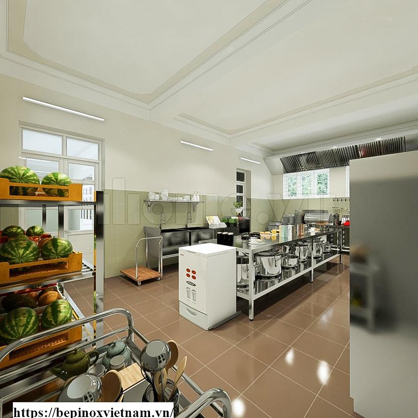 Tiêu chuẩn thiết kế nhà bếp trường mầm non
