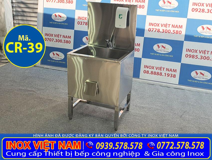 Bồn rửa tay, chậu rửa tay sản xuất bằng inox 304 có độ bền cao, chịu nhiệt tốt.